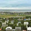 Reykjavik seen from Hallgrimskirkja — Stock Photo