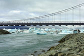 Jokulsarlon Bridge, Iceland — Foto Stock