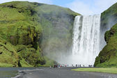 Waterfall Skogafoss, Iceland — Stock Photo