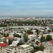 Reykjavik seen from Hallgrimskirkja — Stock Photo