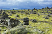 Stone cairns at Laufskalavarda, Iceland — Stock Photo