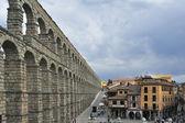 Roman aqueduct in Segovia (Spain) — Stock Photo
