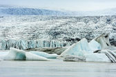 Breidarlon glaciär, island — Stockfoto