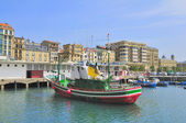 The harbor of San Sebastian (Donostia) — 图库照片