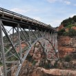 Sedona Red Rocks and bridge — 图库照片
