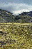 Lanscape południowej islandii, parku narodowego vatnajökull — Zdjęcie stockowe