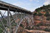 Sedona Red Rocks and bridge — Stock Photo