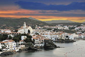 Cadaques with storm sky — Stock Photo