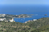 View of Cadaques from mountain (Costa Brava, Catalonia, Spain) — Stock Photo