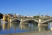 Isabel II bridge, Seville, Spain — Stock Photo