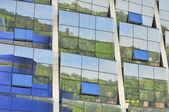 Moderní skleněná fasáda — Stock fotografie