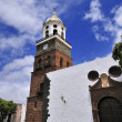Tower of the church of Nuestra Senora de Guadalupe — Stock Photo