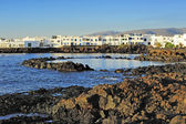 Volcanic coast near Punta Mujeres village, Lanzarote Island, Can — Stock Photo