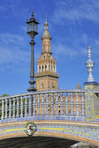 The Plaza de Espana (Spain Square), Seville, Spain — Stock Photo