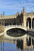 The Plaza de Espana (Spain Square), Seville, Spain — Foto de Stock