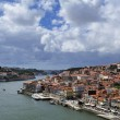 View of Porto from bridge de Luis I (Portugal) — Stock Photo