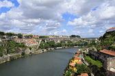 View of Porto from bridge de Luis I (Portugal) — Stock Photo