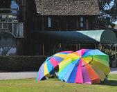 Multicolored umbrellas — Stock Photo