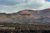 Wild volcanic desert at Timanfaya National Park, Lanzarote Islan — Stock Photo