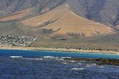Famara beach, Lanzarote, Canary Islands, Spain — Stock Photo