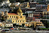 Positano, church of Santa Maria Assunta — Stock Photo