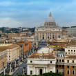 The view from Castel Sant'Angelo towards Vatican City, Rome — Stock Photo