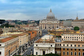 The view from Castel Sant'Angelo towards Vatican City, Rome — Stockfoto