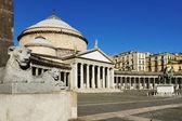 Piazza plebiscito, naples, Italie — Photo