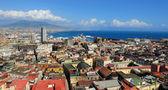 Naples, Vesuvius and port, Italy — Stock Photo