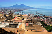 Naples and Vesuvius, Italy — Stock Photo