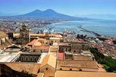 Naples and Vesuvius, Italy — Stock Photo