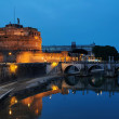 Stock Photo: Holy Angel Bridge and Castle of Holy Angel, Rome, Italy
