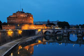 Holy Angel Bridge and Castle of the Holy Angel, Rome, Italy — Stock Photo
