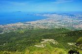View of Naples from Vesuvius — Stock Photo
