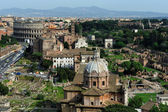 The Roman Forum and the Colosseo, Rome — Stock Photo