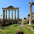 Постер, плакат: Temple of Saturn Temple of Vespasian and Titus at the Roman Fo