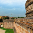 Wall of Castle Sant'Angelo, Rome, Italy — Stock Photo #38662261