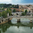 Stock Photo: St.Angelo Bridge and river Tiber, Rome, Italy