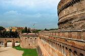 Wall of Castle Sant'Angelo, Rome, Italy — Stock Photo