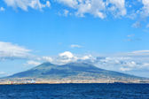 Golf of Naples and Vesuvius, Italy — Stock Photo
