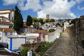 Stadt in der burgmauern, obidos, portugal — Stockfoto