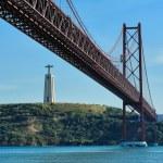 The 25th of April Bridge, Lisbon, Portugal — Stock Photo #48285797