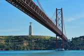 The 25th of April Bridge, Lisbon, Portugal — Stock Photo