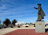 monument  Henry the Navigator in  Sagres, Algarve, Portugal — Stock Photo