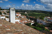 Rooftops of the houses within castle walls, Obidos, Portugal — Stock Photo