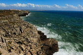 Coast of the Atlantic ocean, Peniche, Portugal — Foto Stock