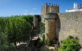 Old  walls, Obidos, Portugal — Stock Photo