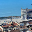 View from the top of Rua Augusta Arch, Lisbon, Portugal — Stock Photo #49145721