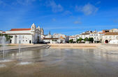 Square Infante Dom Henrique  at Lagos, Algarve, Portugal — Stock Photo