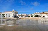 Square Infante Dom Henrique  at Lagos, Algarve, Portugal — Stock Photo